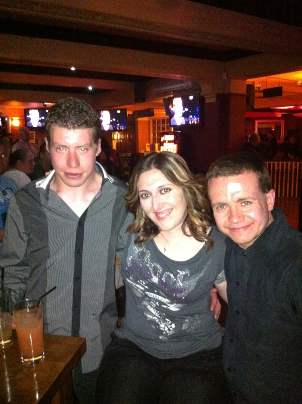 (Left to Right) Sam, Gemma, Simon.