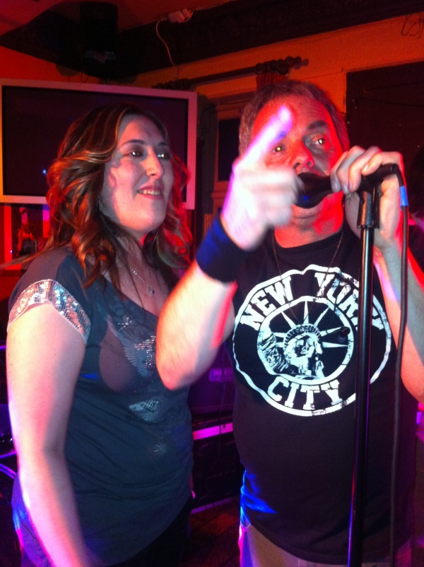 "Dave teaches Gemma to sing ""Pretty Fly For A White Guy."""