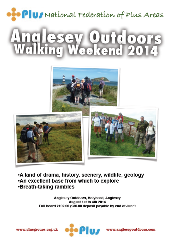 Poster for the Anglesey Walking Weekend 2014