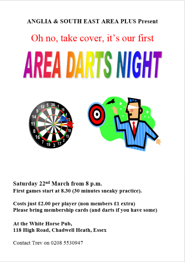 Area Darts Night Poster